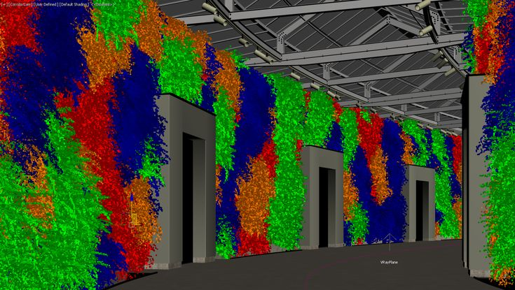 How to use Forest Pack to create green walls. These principles can be used for any vertical scatter.