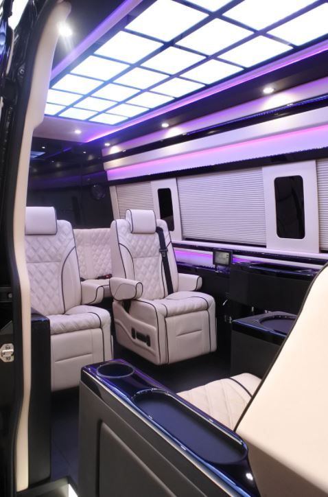 El Kapitan Limo Conversion Vans Take Executive And Celebrity Transport To A New High With Spacious Designs Luxurious Materials Fine Fit Finish