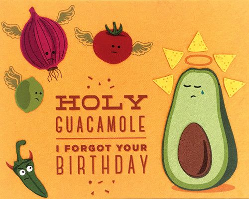 Holy Guacamole Birthday Card                                                                                                                                                                                 More