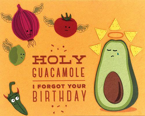 Holy Guacamole Birthday Card