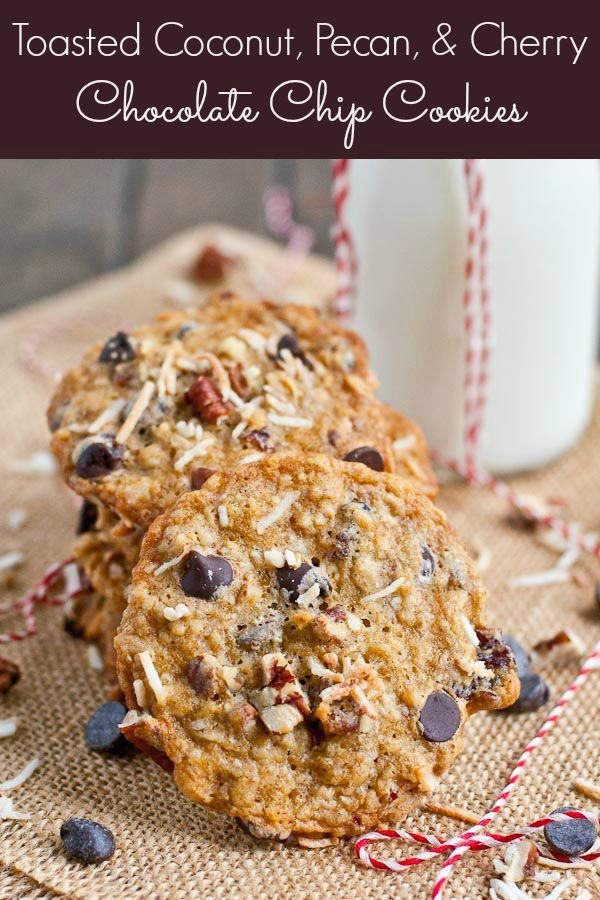 These Oatmeal Chocolate Chip Cookies are loaded with cherries, toasted ...