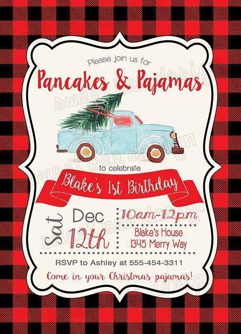 #invitation #christmas #birthday #pancakes #pajamas  <a class=