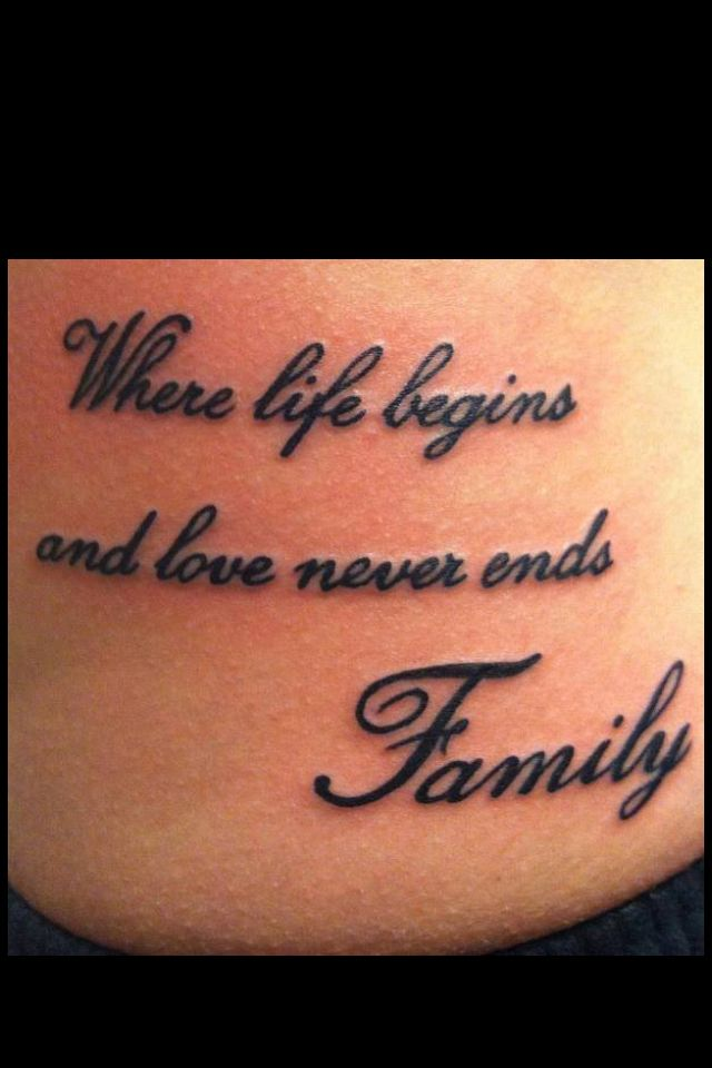 Best 25 family tattoo sayings ideas on pinterest good for Tattoo saying about family