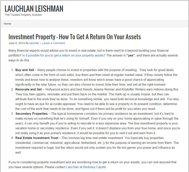 how to get 7 return on investment in australia