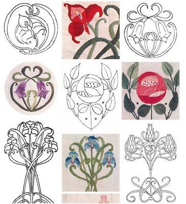 lovely embroidery patterns, thanks  meggiecat:Embroidery Blog!!!!