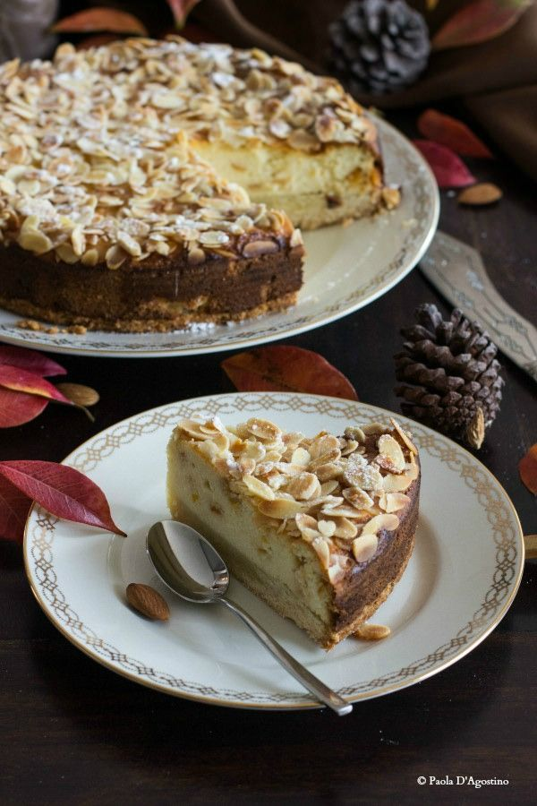 Cheesecake mandorle e ricotta- Almond Ricotta Cheesecake (in Italian)