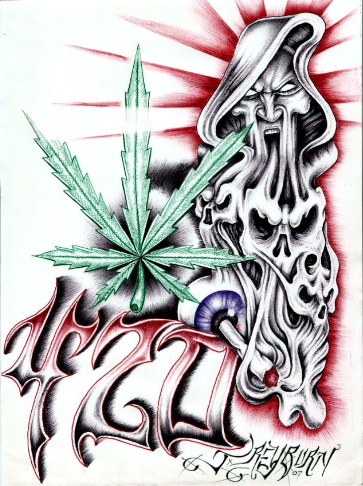 420 tattoo designs - 730×975