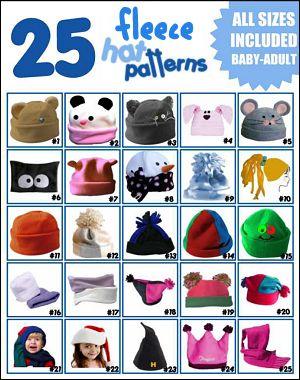 fun fleece hat ideas