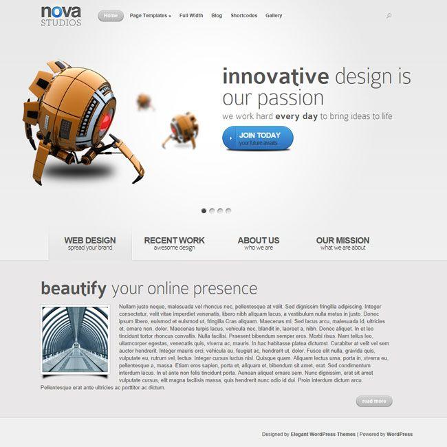 Nova WordPress Theme | Premium Wordpress Themes - A Responsive WordPress theme with video demo