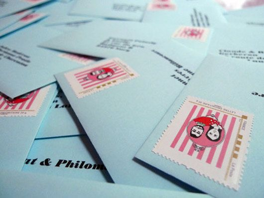 timbres personnalises - http://www.unbeaujour.fr/blog-mariage/timbres-personnalises/
