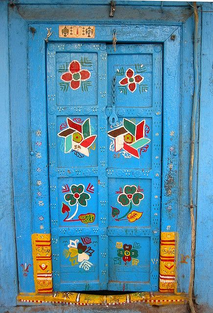 500 year old door in Sadashiv Peth, Pune, Maharashtra, India. Parimal Deshpande via flickr
