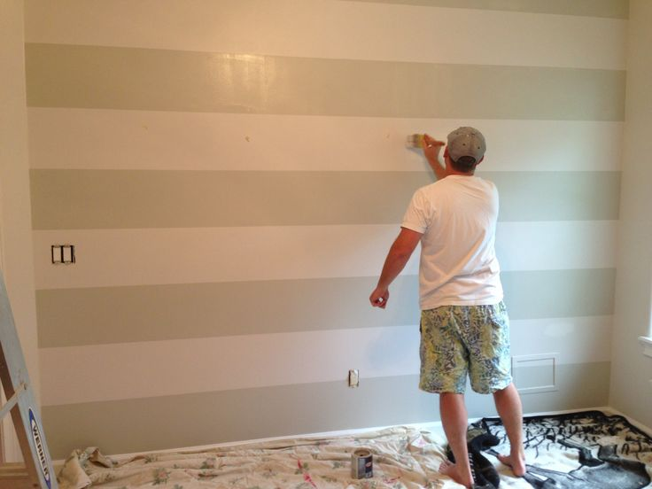 Eider White Sw Paint Wall In 2019 Grey Striped Walls