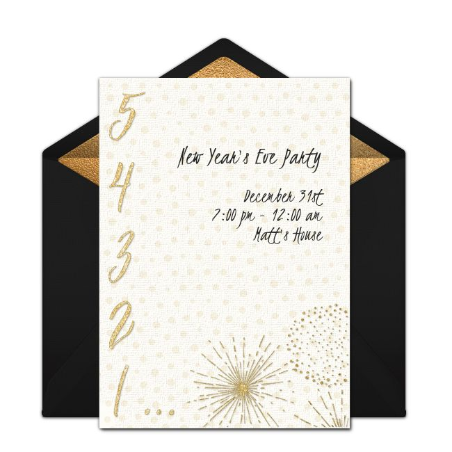 New Year's Eve Countdown Online Invitation
