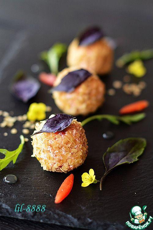 Творожные шарики в овсяной панировке - кулинарный рецепт
