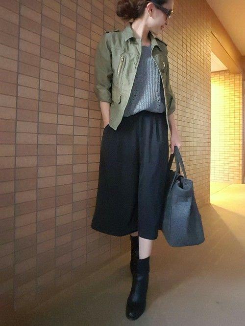 sakura|Jewel Changesのミリタリージャケットを使ったコーディネート                                                                                                                                                                                 もっと見る