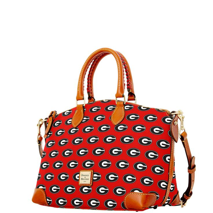 Georgia Satchel is perfect with a black romper, Ray Bans, tan cowboy boots, Kate spade watch, gold chain bracelet, some pearls and a gold monogrammed necklace.