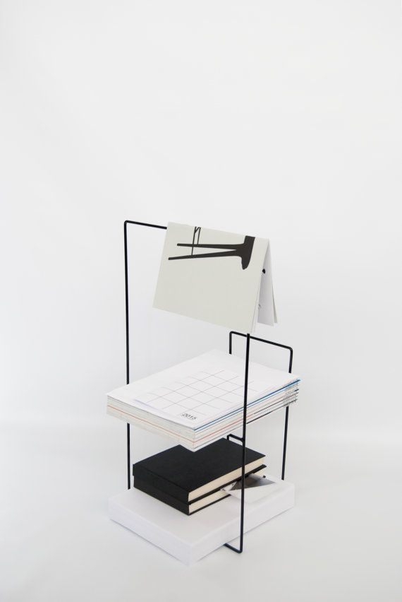 Modern Metal Magazine Holder In Black Table By Adesignprojects