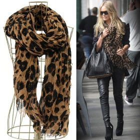Leopard Print Scarf . #fashion #clothes #style #fall #winter