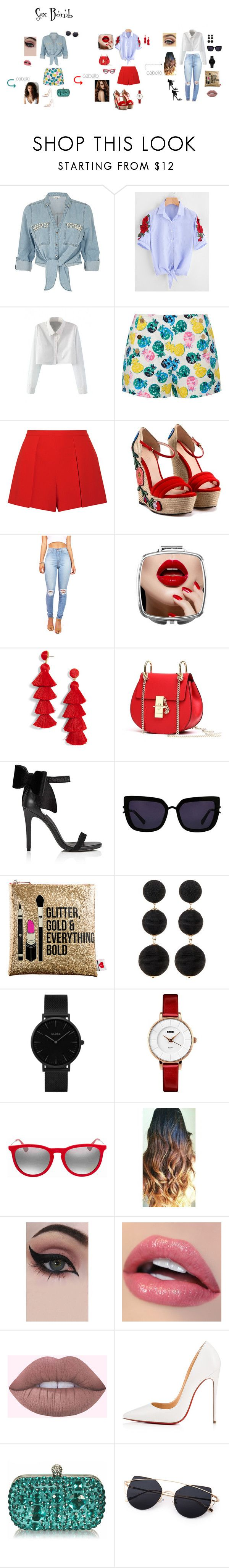 """""""estilo"""" by viridiana-islas on Polyvore featuring moda, ZAK, WithChic, Draper James, Alice + Olivia, Gucci, BaubleBar, Miss Selfridge, Kendall + Kylie y Sephora Collection"""