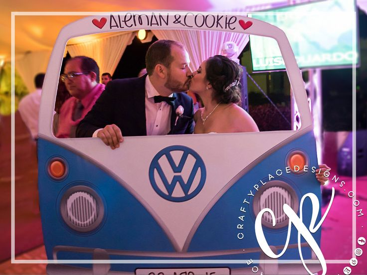 Car photo booth frame | VW Bus photo booth prop | Wedding photo booth | Retro photo booth backdrop |