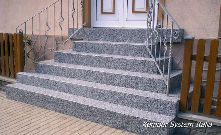 1000 images about pavimenti granigliati marmo resina on for Scale esterne in marmo
