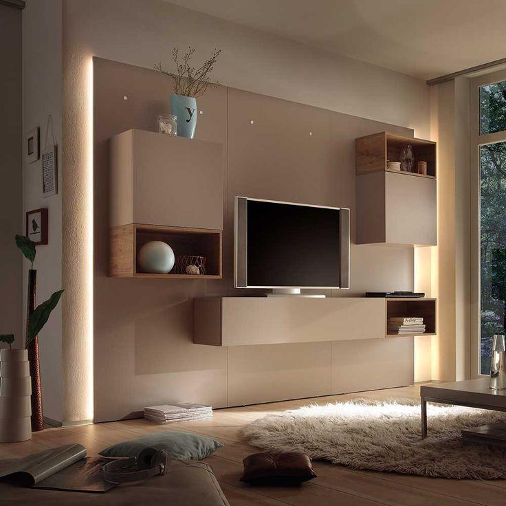 Design TV Wand in Beige Eiche Beleuchtung (9-teilig) Jetzt bestellen unter: https://moebel.ladendirekt.de/wohnzimmer/tv-hifi-moebel/tv-waende/?uid=3dcc03b8-3d23-5397-8639-88e9a5ff93b1&utm_source=pinterest&utm_medium=pin&utm_campaign=boards #wohnzimmerw #wohnzimmerschrank #modern #design #tvwaende #wohnw #wohnzimmer #designer #anbauw #tvhifimoebel #wohnzimmerschrankw #schrank