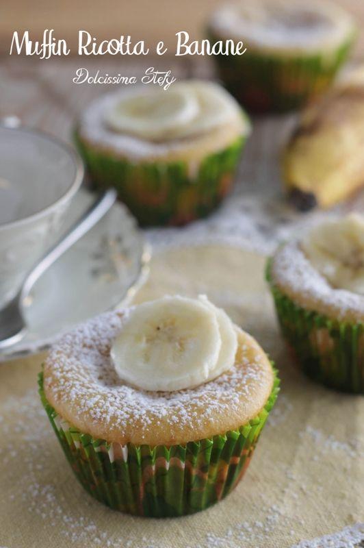 Muffin alla Banana e Ricotta