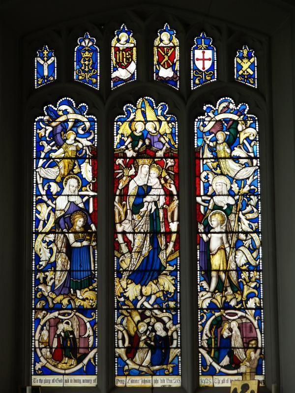 Description: Bishop's Stortford, England: St Michael's Church: Lady Chapel window (1920s, Christopher Webb)