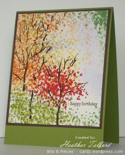 Stampin Up Thanksgiving Cards   Signs of Autumn   Cards: flowers and gardening card ideas