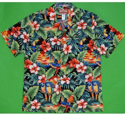 Гавайская рубашка - 102C.10BL