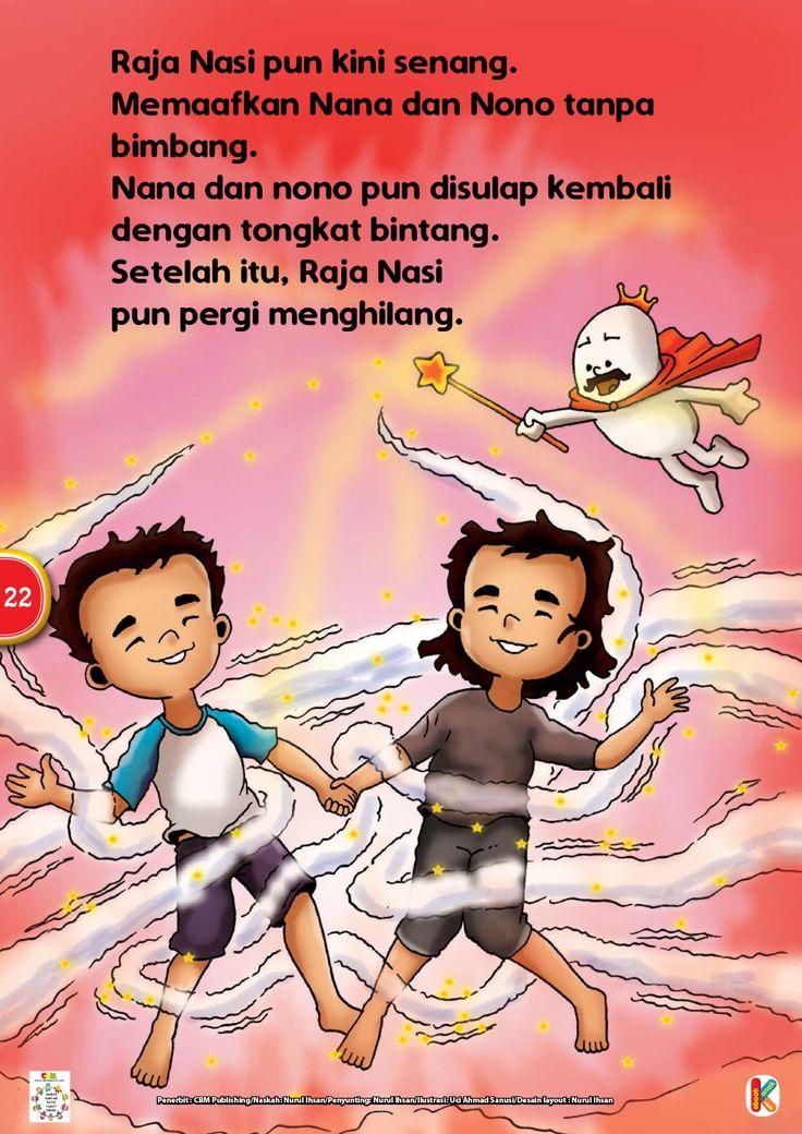 Ebook Online Cerita Teladan Si Kembar dan Raja Nasi adalah cerita bergambar yang mengajarkan kebiasaan untuk selalu menghabiskan nasi atau makanan lainnya.