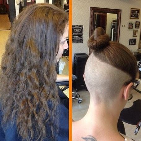 Before Or After Undercut Undercuts Buzzed Shavednape Napeshave