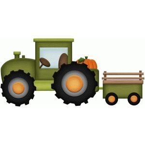 Silhouette Design Store: tractor farm fall print and cut