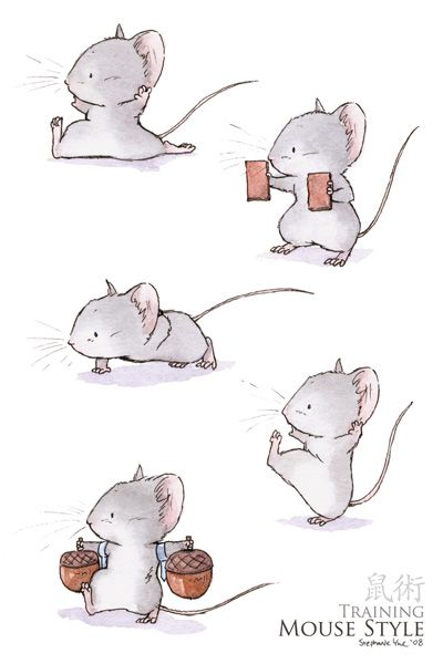 I hadn't seen these illustrations when I wrote Mrs. Middlejoy and the Haunted Castle.  So I can't say that they inspired my writing THEN.  But I'll never be able to write about mouse martial arts again without thinking of these beautiful drawings.