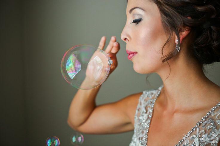 Bride - engagement ring detail photograph | Bubbles | Vancouver Wedding Photographers - http://www.butterstudios.ca   BC Wedding Awards Detail Photo Finalist | Top 3 | Hart House Restaurant   #wedding #photographers #vancouver