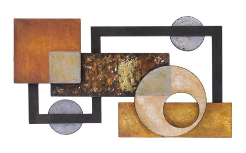 "Big Abstract Metal Wall Art Sculpture Home Decor 37""w, 21""h $76.96"