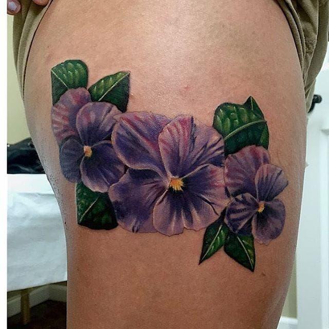 best 25 violet flower tattoos ideas on pinterest. Black Bedroom Furniture Sets. Home Design Ideas
