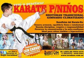 Folleto de karate para niños