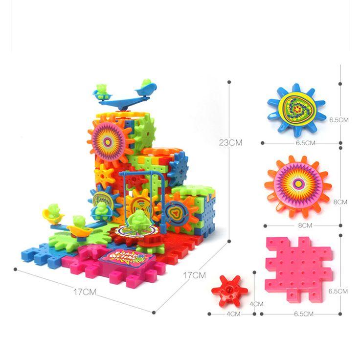 81 Шт. Пластиковый Электрический Передач 3D Головоломки Строительные Наборы Кирпичи Развивающие Игрушки Для Детей Детям Подарки BM88