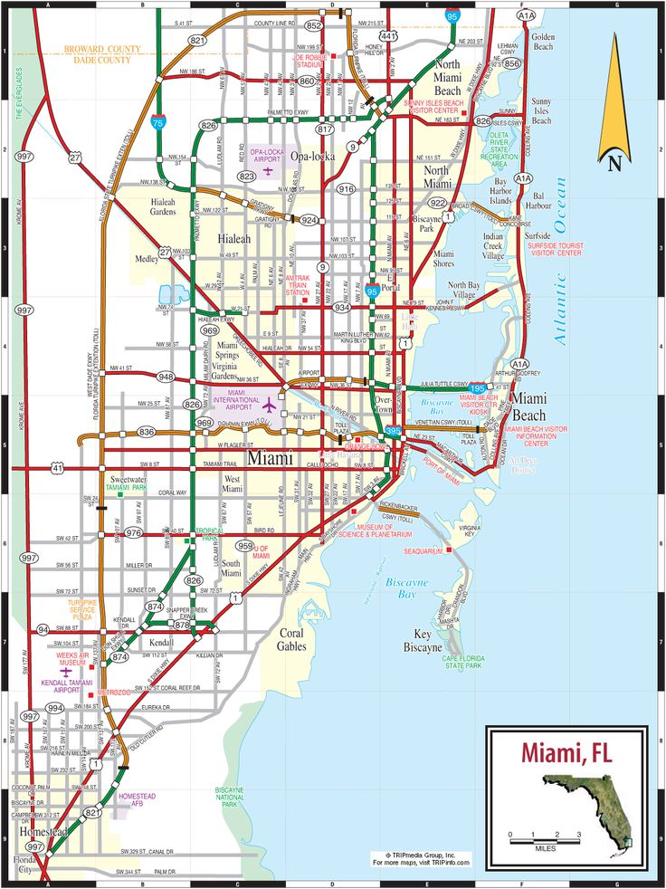 awesome Map of Miami Florida