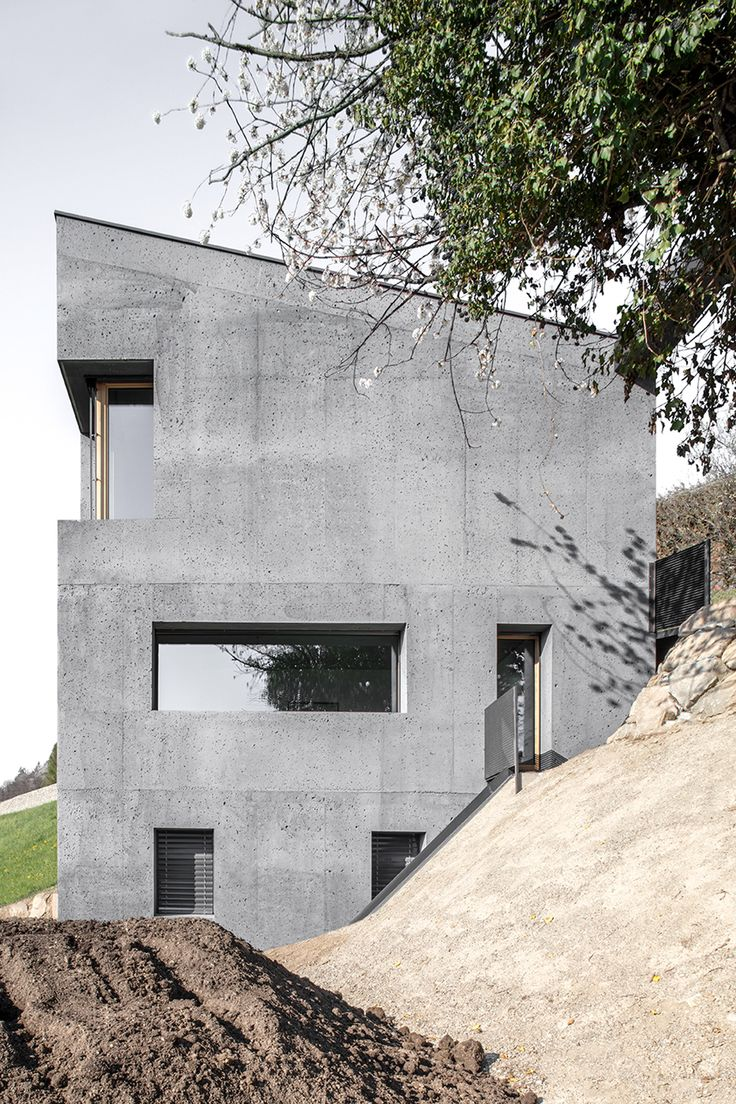 This concrete house looks like a block of Swiss cheese Concrete