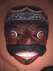 Klana Mask    symbolizes nature insolence contained in man. Kelana means wanderer or Search. That in this life we shall endeavor