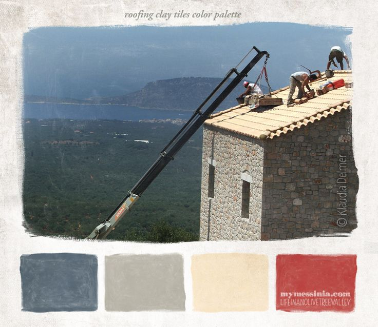 Roofing clay tiles color palette | My Messinia