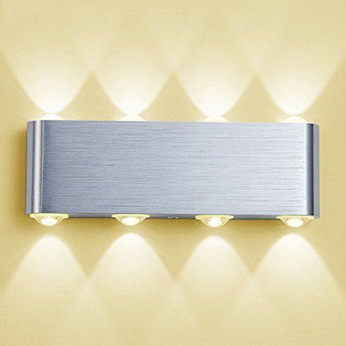 Moderne Murale Led Applique Lampe LedPhoewon 8w Aluminium IH9EeDW2Y