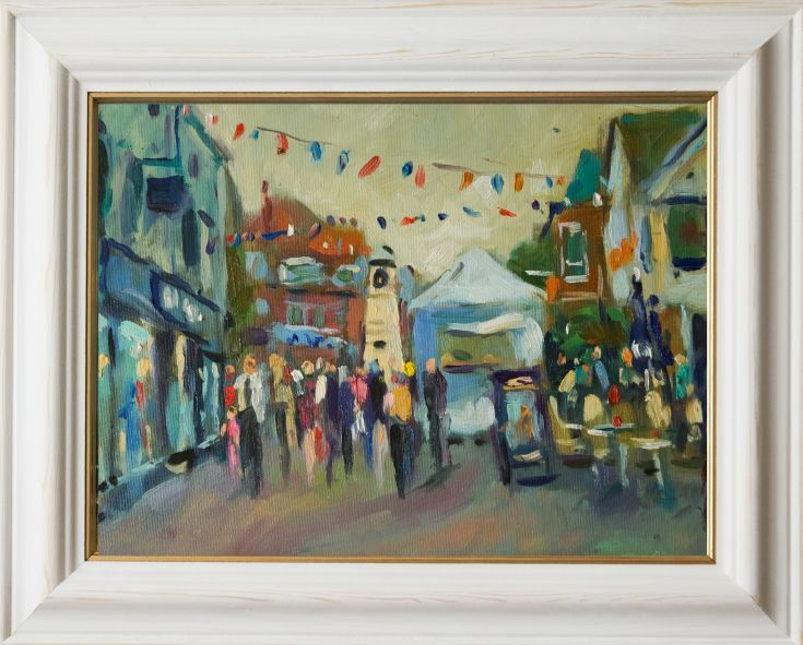 ARTFINDER: Littlehampton Arts and Crafts Far by Andre Pallat - Painted in September ('15) in the Sussex town as I sat waiting for customers to come and have a (half hour) portrait painted... very stressful.. Oil on Canva...