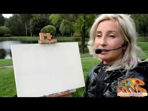 Часть 1. Построение осеннего пейзажа. Ольга Базанова - YouTube