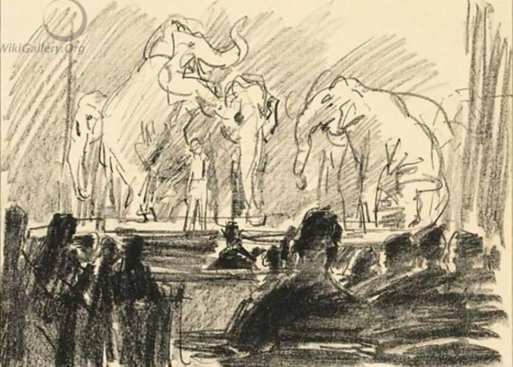 Olifantenhoofd het toneel van het Scala Theater .Den Haag 1931.