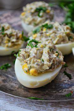 Kuchnia w zieleni: Jajka faszerowane pieczarkami