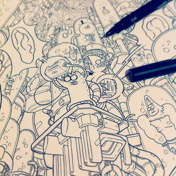 From the cover for Regular Show comic issue 32. Out in February! #regularshow | wolski.igor
