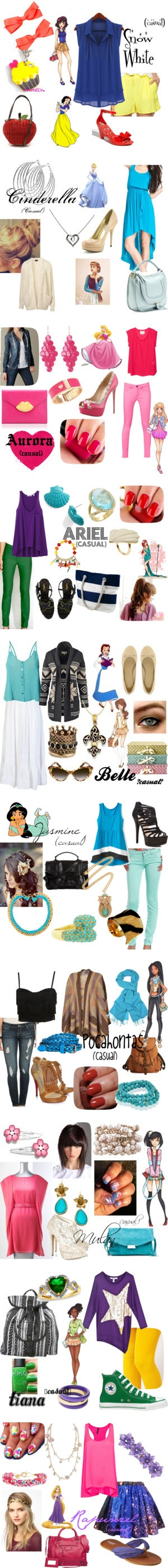 """Princess go Casual"" by dawn-falls on Polyvore"